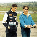 1986 Boudon managing and coaching Jerome Mounier in Magny cours for some strong results in the Championship