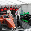 2007 Boudon coaching Philip Major en route for podium in Canada F1 GP event and pole position in Road America